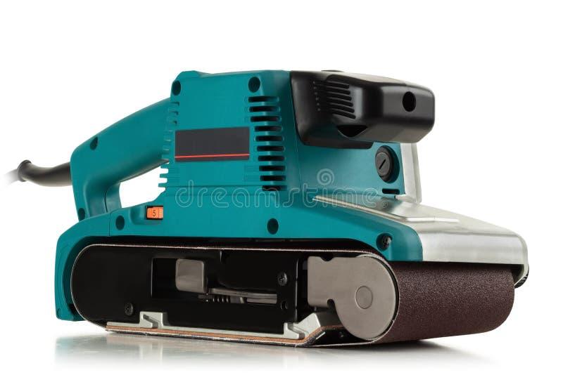 Elektrische Bandschleifmaschine stockfoto