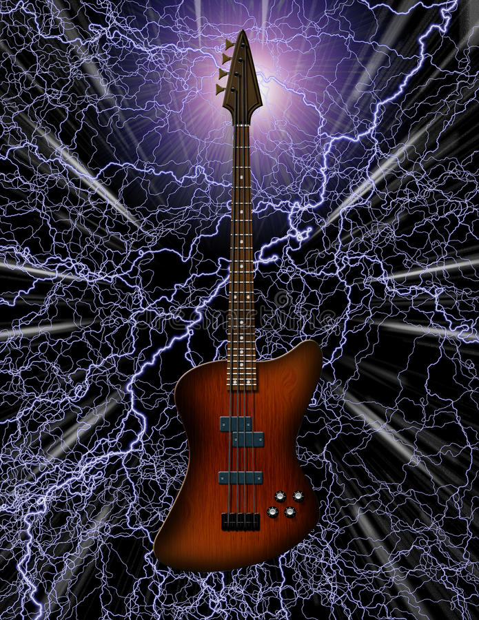 Elektrische Basgitaar royalty-vrije illustratie