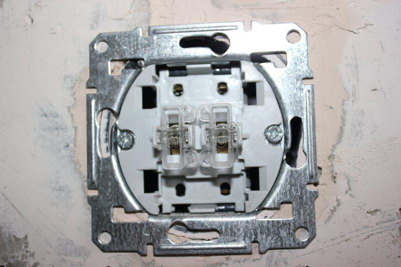 Elektrische bedrading stock foto