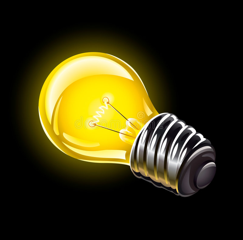 Elektrische bol die vectorillustratie aansteekt stock illustratie