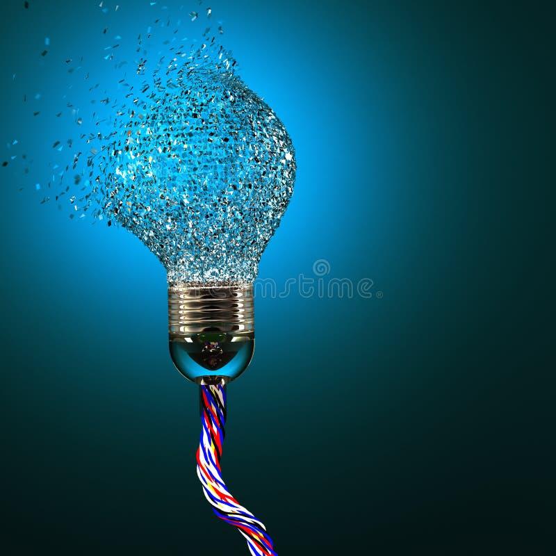 Elektrische bolexplosie stock illustratie