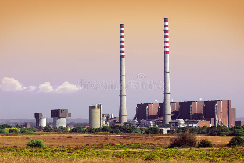 Elektrische centrale royalty-vrije stock foto