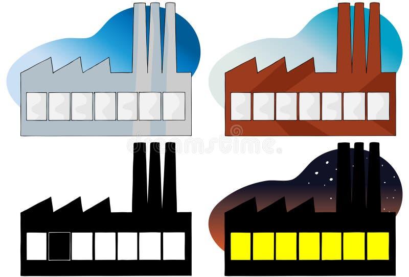 Elektrische centrale vector illustratie