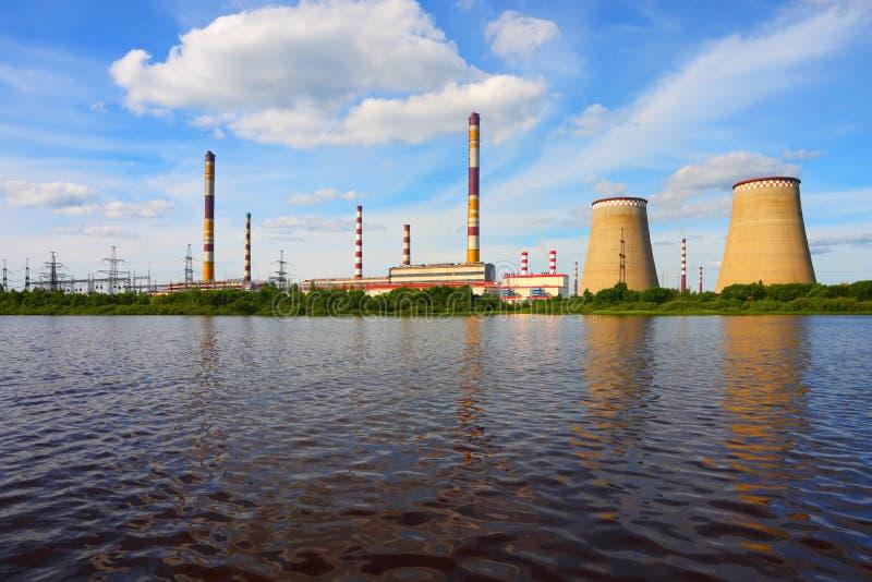Elektrische centrale royalty-vrije stock afbeelding