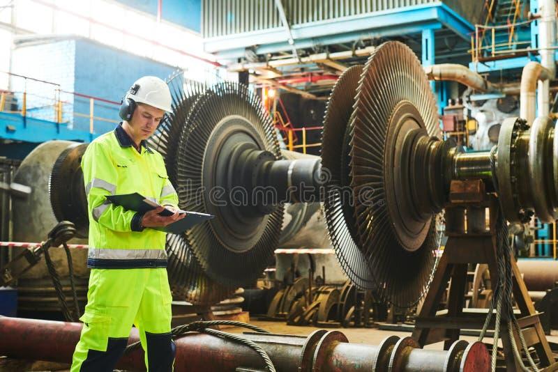 Elektrische centraleonderhoud Industialarbeider royalty-vrije stock fotografie