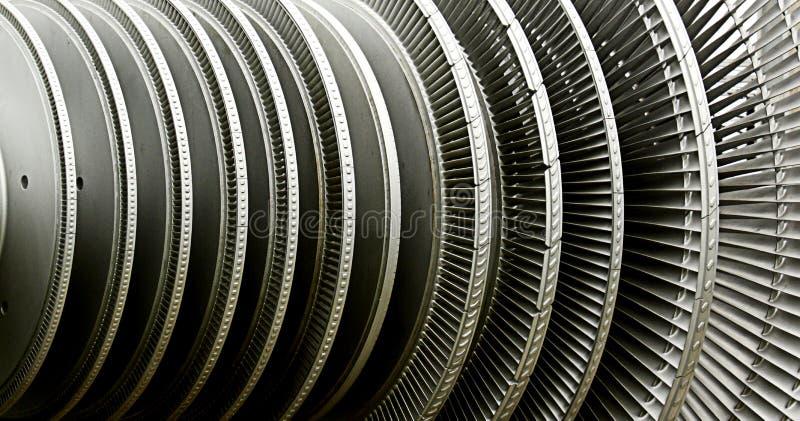 Elektrische centraleturbine stock foto