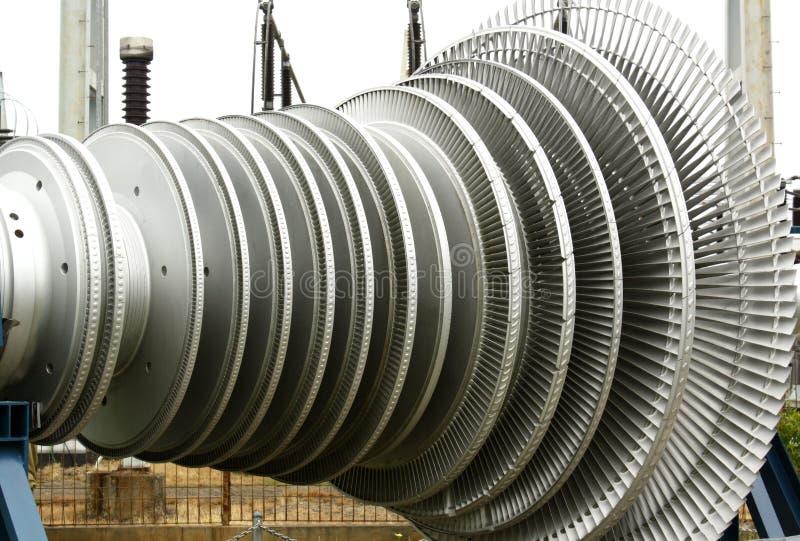 Elektrische centraleturbine royalty-vrije stock afbeelding