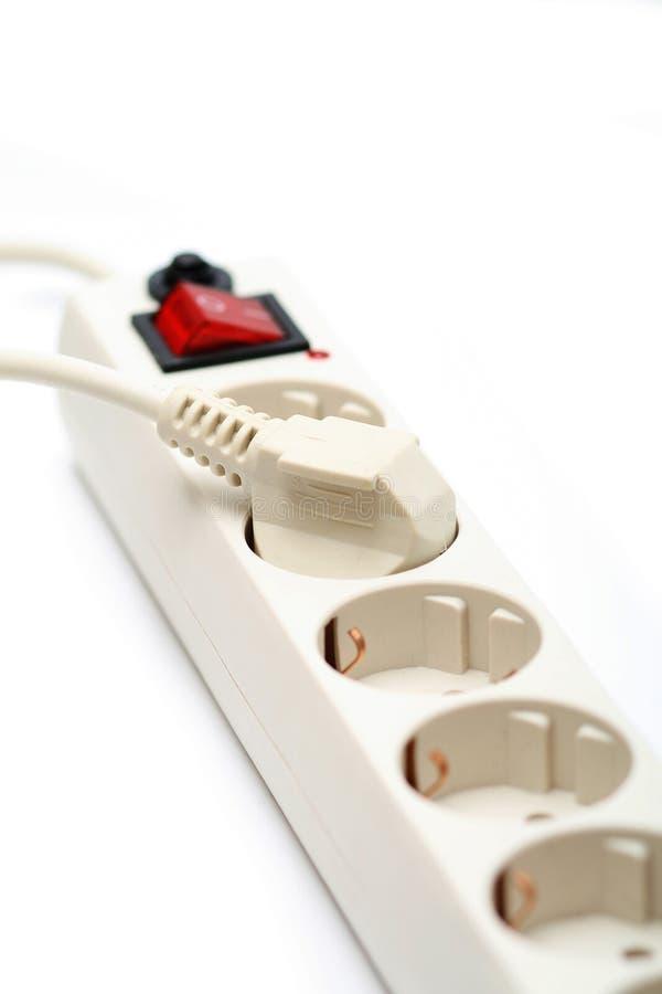 Elektrische contactdoos en afzet royalty-vrije stock afbeeldingen