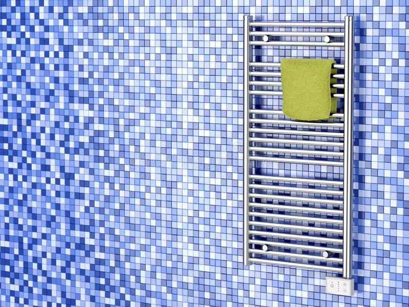 Elektrische de handdoekradiator van Chrome stock illustratie
