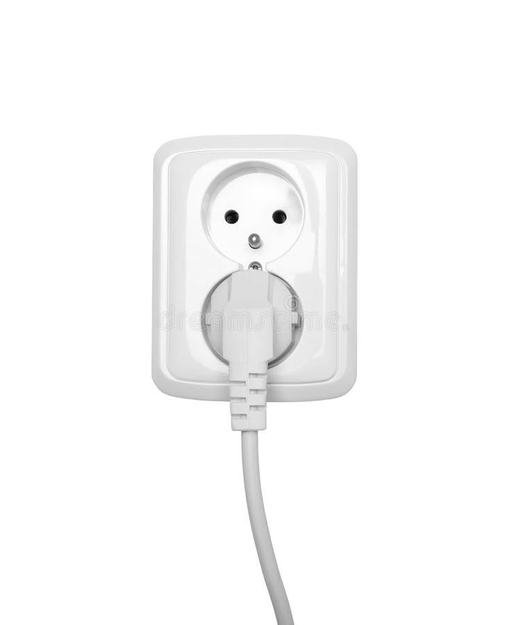 Elektrische die afzet op wit wordt geïsoleerd stock afbeelding