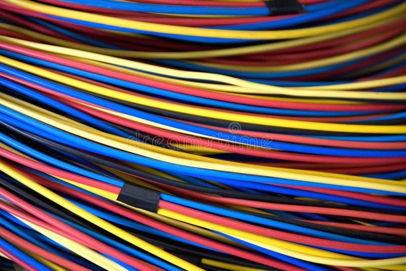 Elektrische Drähte stockfoto