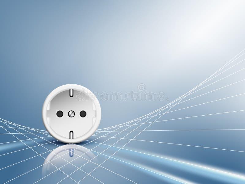 Elektrische Energie - Einfaßung, Anschluss lizenzfreie abbildung