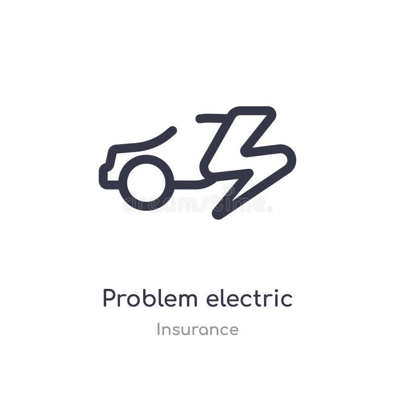 elektrische Entwurfsikone des Problems lokalisierte Linie Vektorillustration von der Versicherungssammlung editable Haarstrichpro vektor abbildung