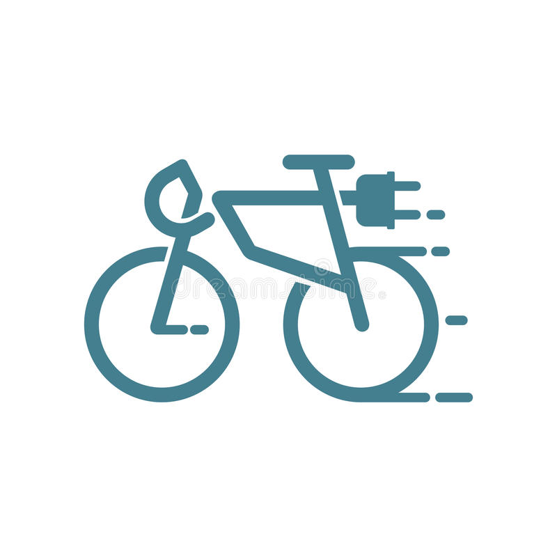 Elektrische fiets vector illustratie