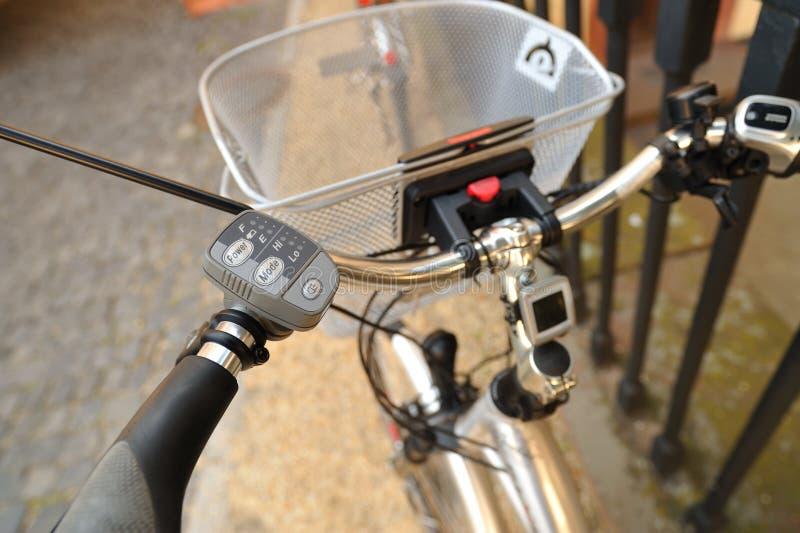 Elektrische fiets. De indicator van de macht royalty-vrije stock fotografie