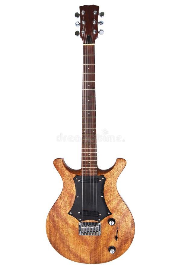 Elektrische geïsoleerdee gitaar royalty-vrije stock afbeeldingen