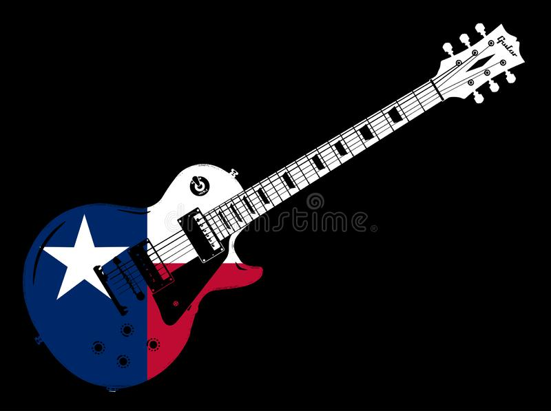 Elektrische Gitaar Texas Flag Icon vector illustratie