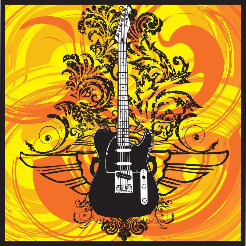 Elektrische Gitarre lizenzfreie abbildung