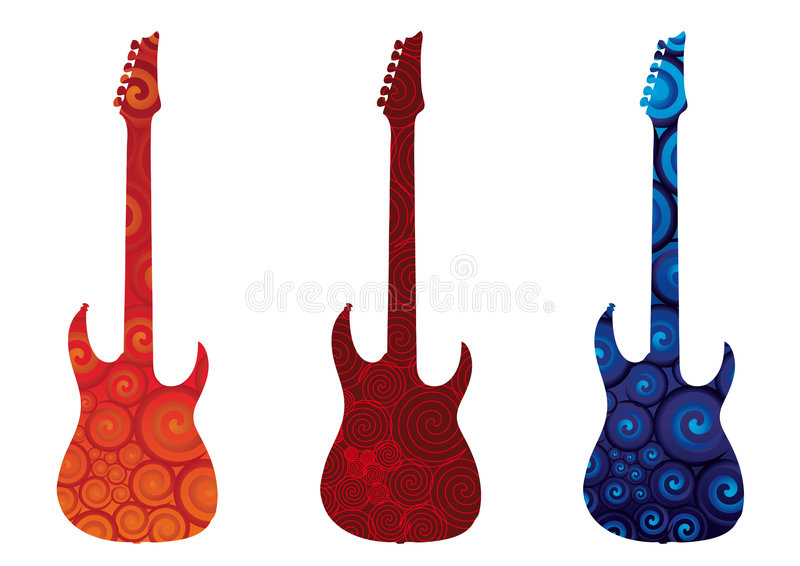 Elektrische Gitarren stock abbildung