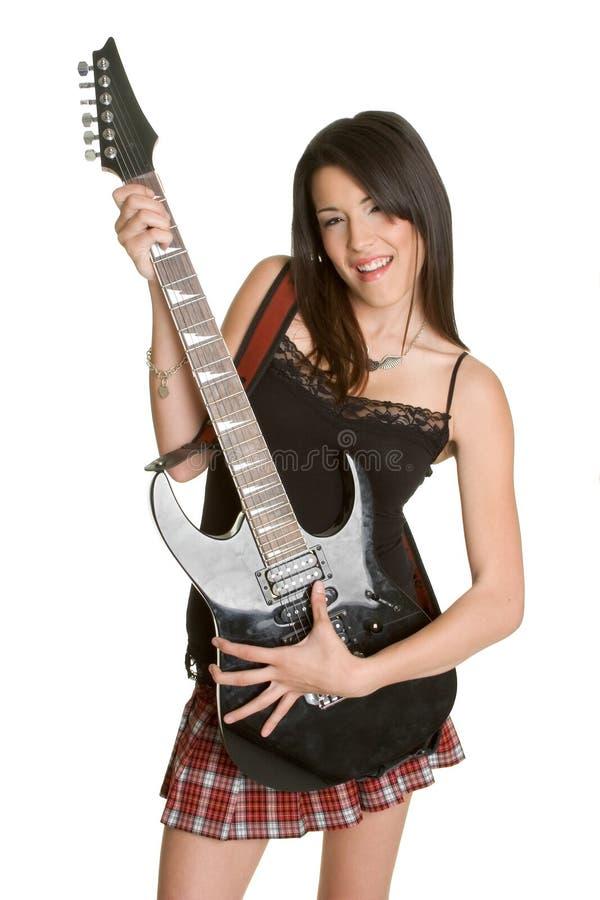 Elektrische Gitarren-Mädchen stockbilder