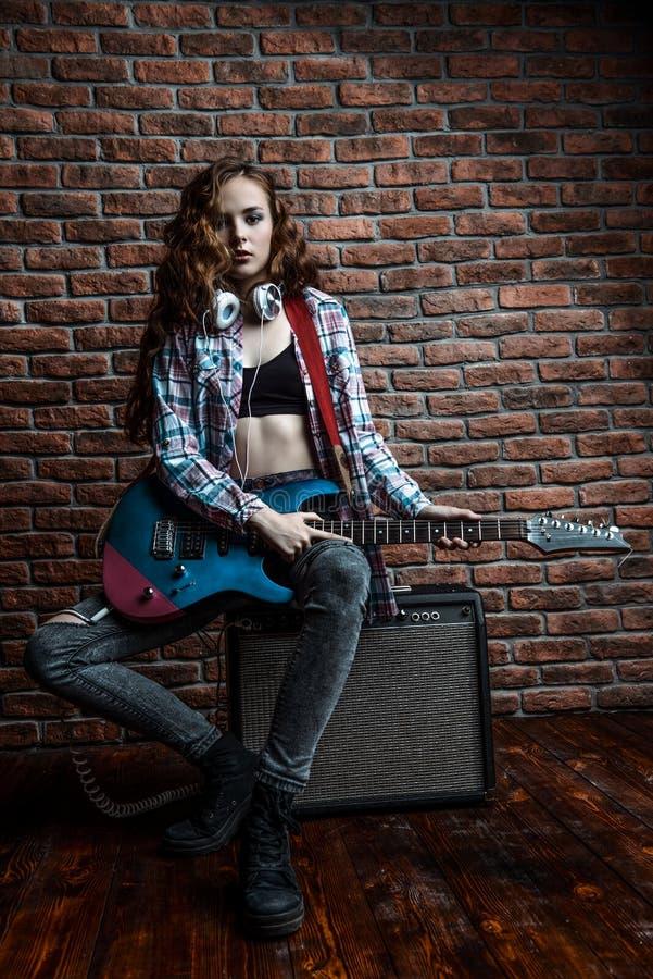Elektrische Gitarren-Musik lizenzfreie stockbilder