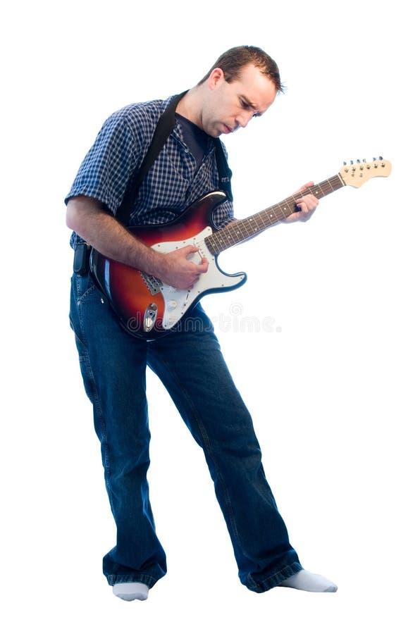 Elektrische Gitarren-Spieler lizenzfreies stockfoto
