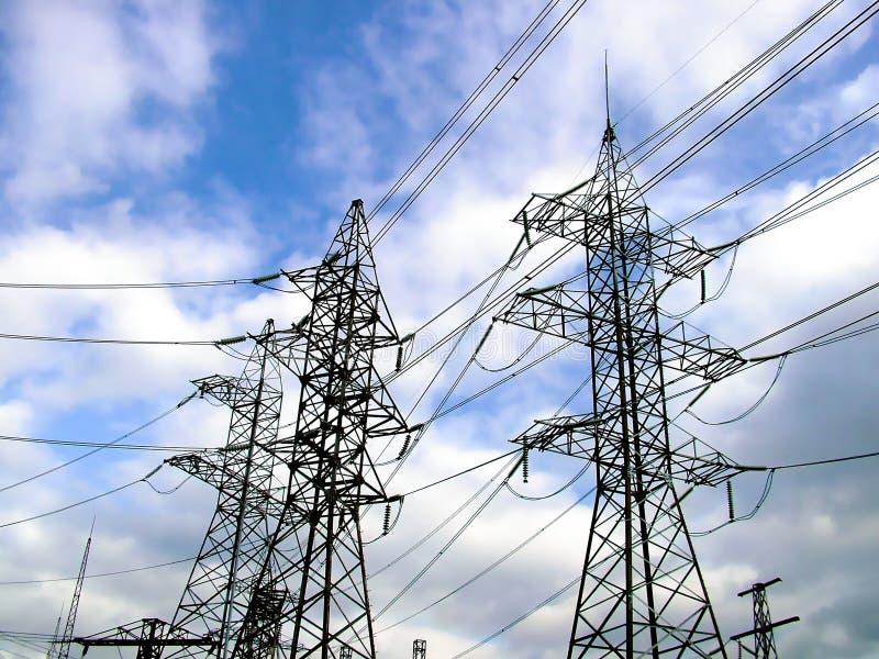 Elektrische Gondelstiele stockbild