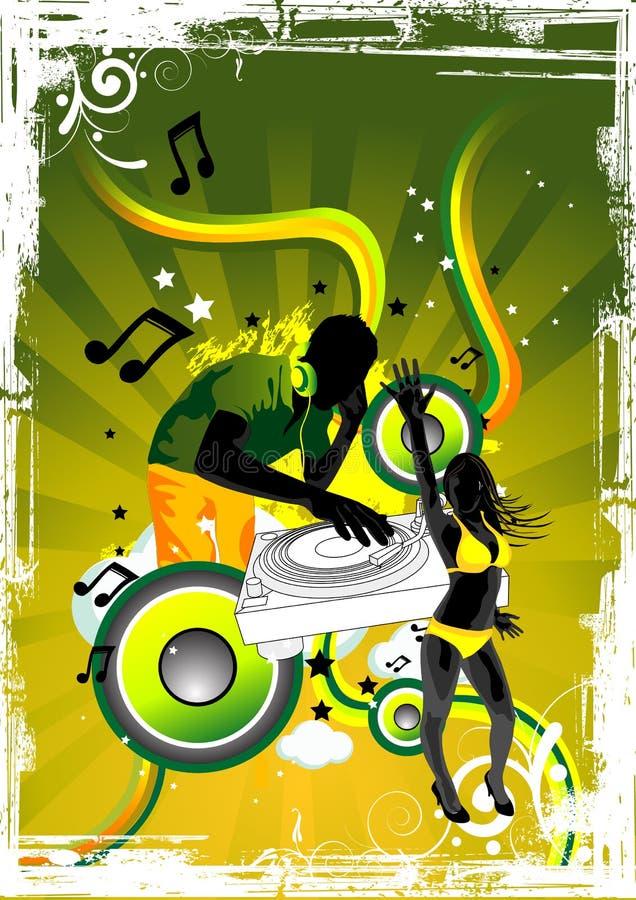 Elektrische Groene Disco stock illustratie