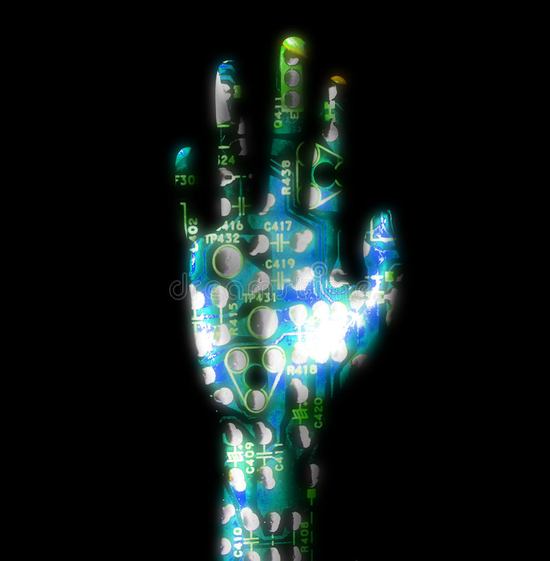 Elektrische Hände stock abbildung