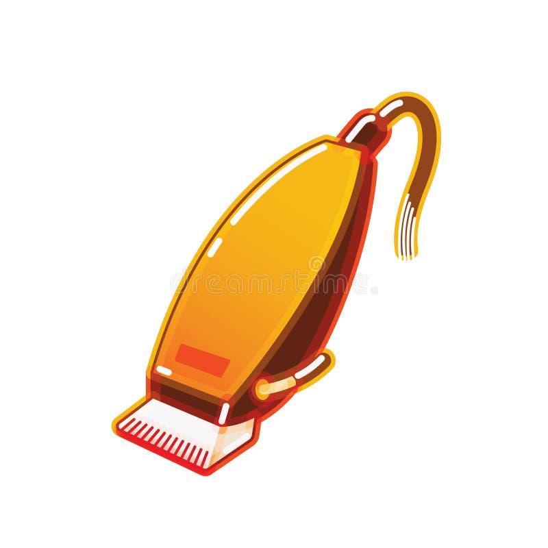 Elektrische haarclipper stock illustratie