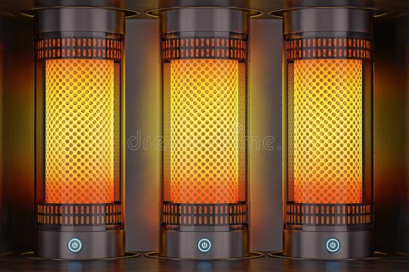 Elektrische Heizung stockfoto