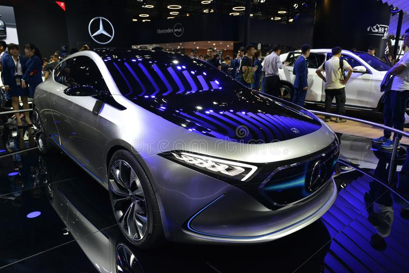 Elektrische het conceptenauto van Mercedes-Benz EQA royalty-vrije stock afbeeldingen