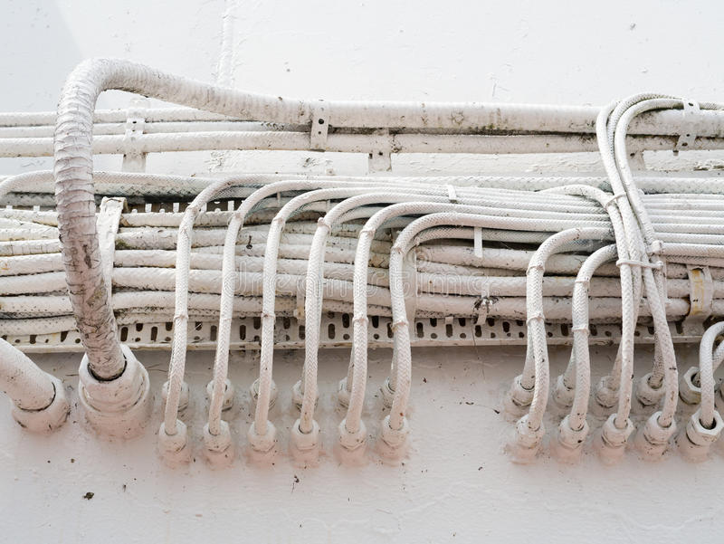 Elektrische Hochleistungsverdrahtung stockfoto