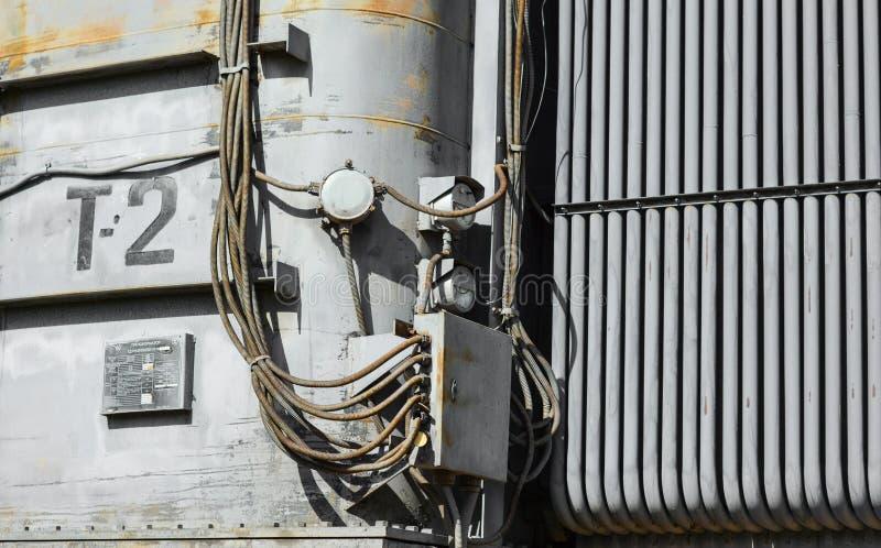 Elektrische Hochspannungsnebenstelle stockfotografie