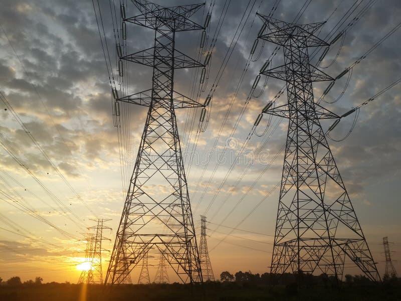 Elektrische hoogspanning royalty-vrije stock foto