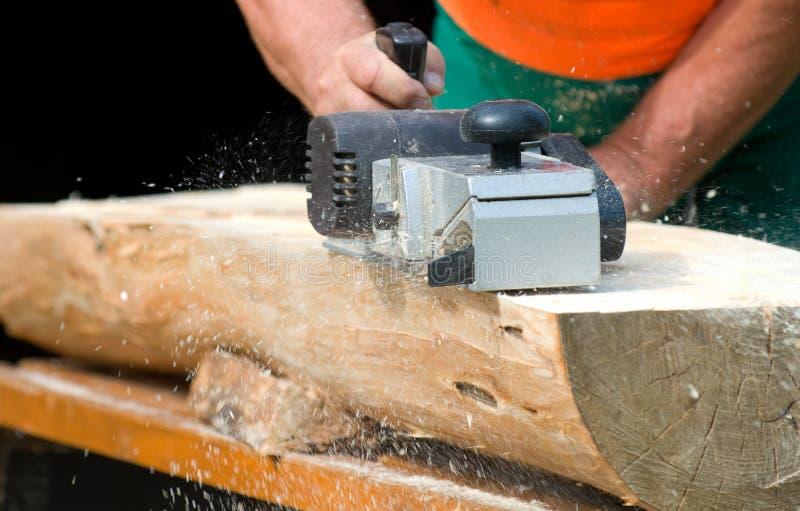 Elektrische houten planer stock foto's
