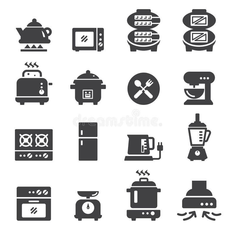 Elektrische Ikone des Lebensmittels stock abbildung