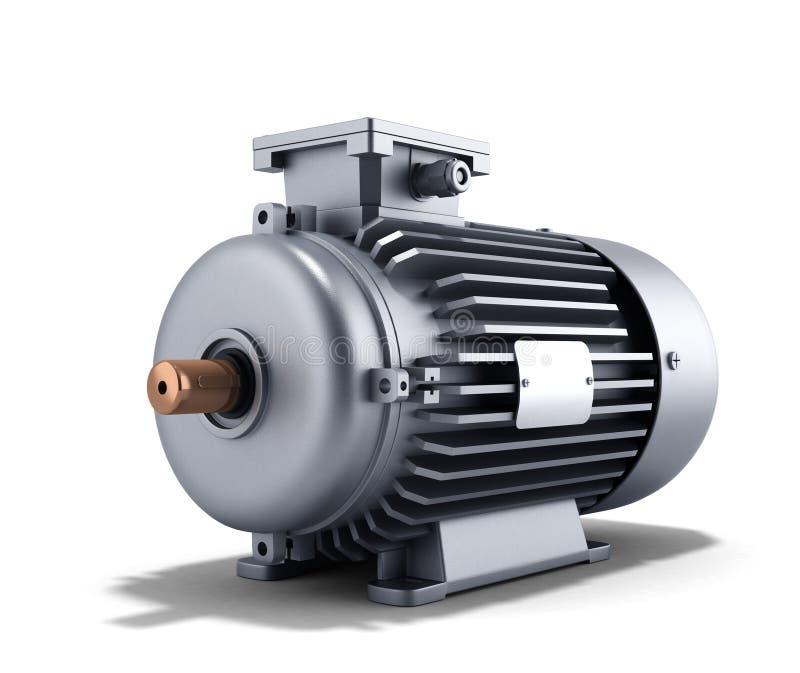 Elektrische Illustration des Motorgenerators 3d auf einem weißen Hintergrund lizenzfreie abbildung