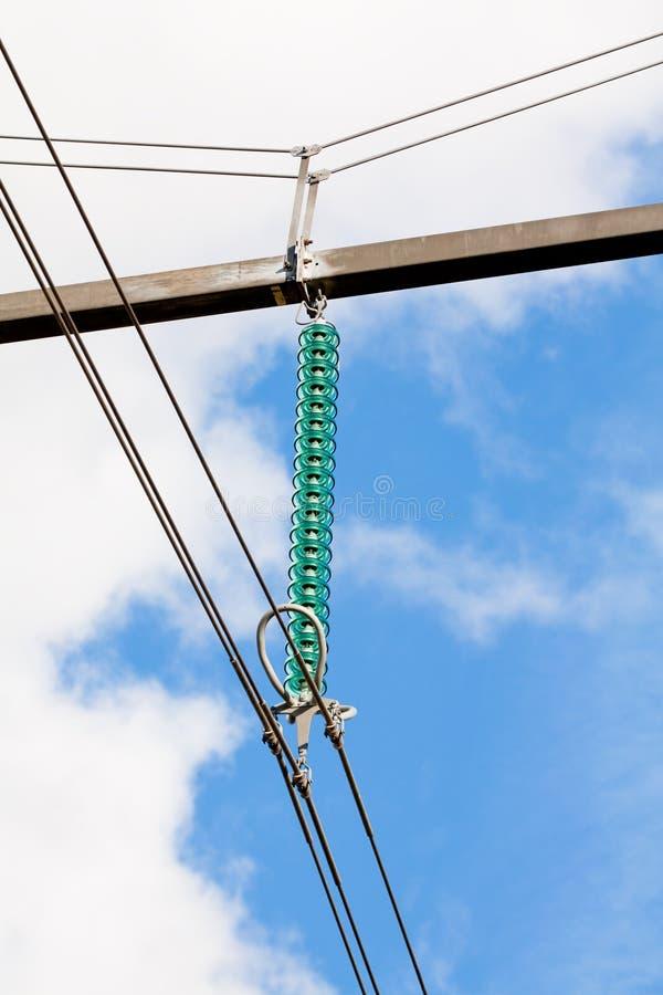 Elektrische Isolierung mit Beschlag lizenzfreies stockfoto