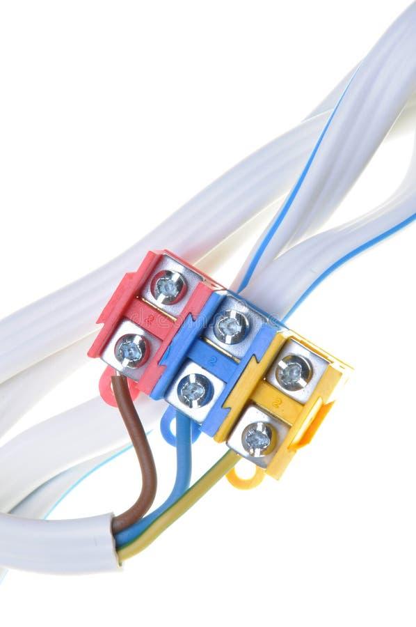 Elektrische Kabel Der Installation Mit Verteiler Stockbild - Bild ...