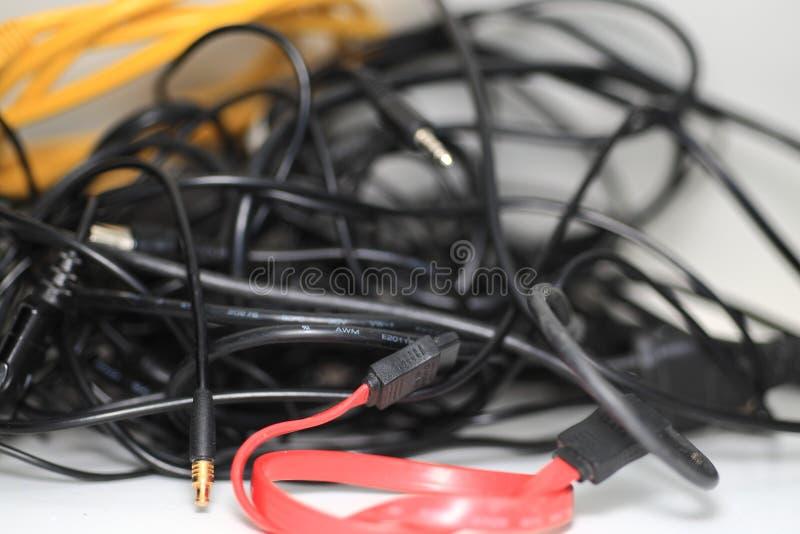 Elektrische kabels royalty-vrije stock fotografie