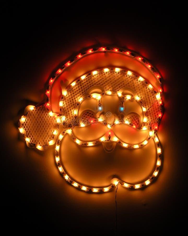 Elektrische Kerstman stock foto