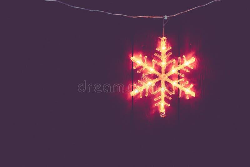 Elektrische Kerstmisdecoratie van het sterhuis royalty-vrije stock foto