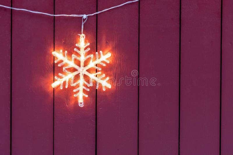 Elektrische Kerstmisdecoratie van het sterhuis stock afbeelding