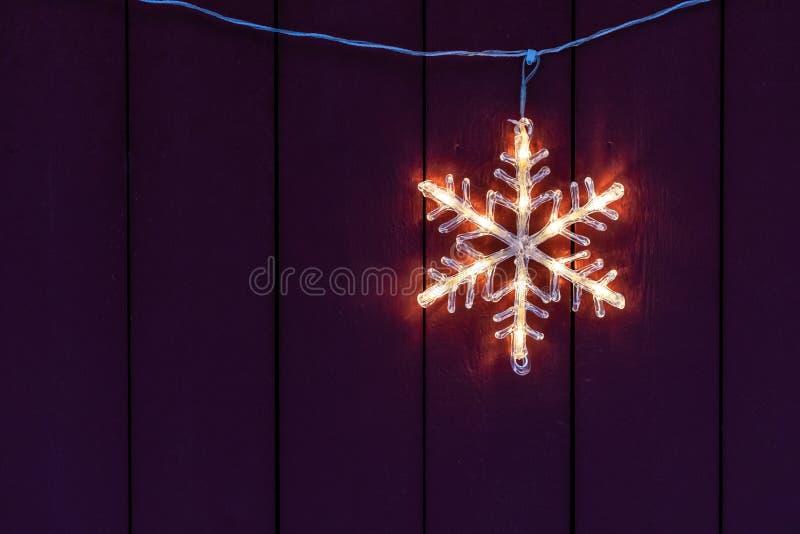 Elektrische Kerstmisdecoratie van het sterhuis stock afbeeldingen