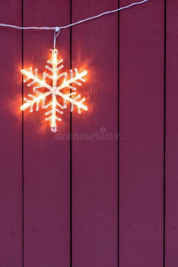 Elektrische Kerstmisdecoratie van het sterhuis royalty-vrije stock afbeelding