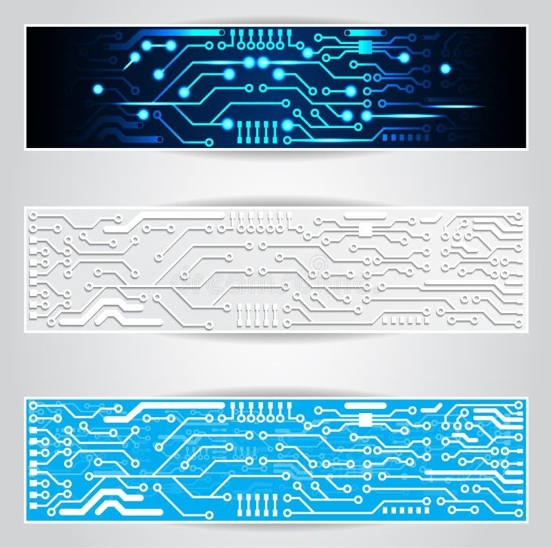 Elektrische Leiterplattefahne lizenzfreie abbildung
