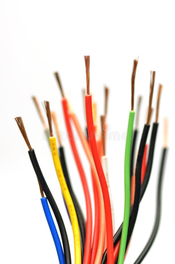 Elektrische Leitung stockfoto. Bild von auszug, isolierung - 27072616