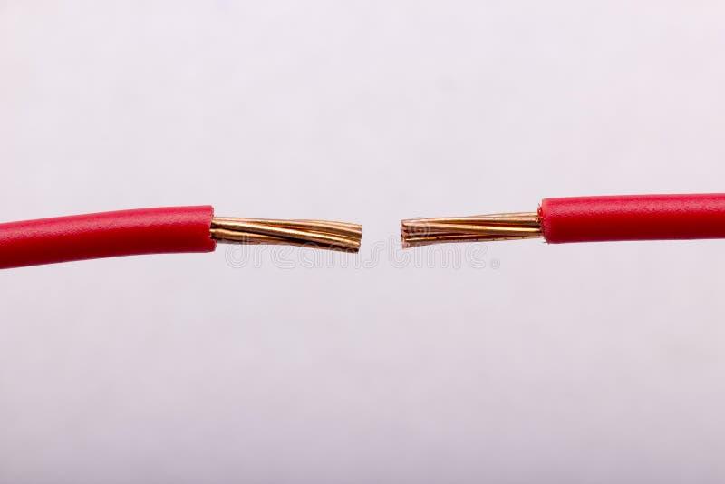 Elektrische Leitung stockfoto. Bild von aufbau, weiß - 41506232