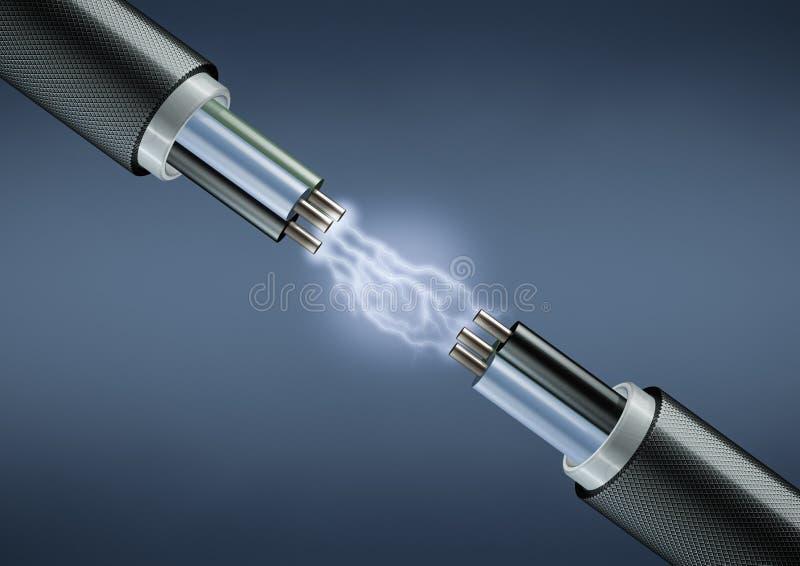 Elektrische Leitungen lizenzfreie abbildung